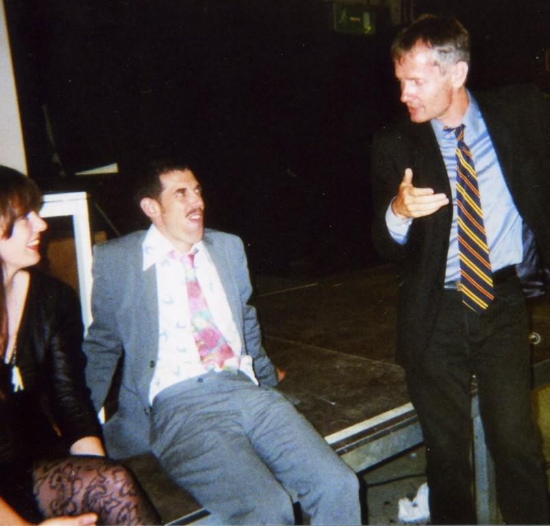 von links: Anna McCarthy, Federico Sanchez, Ulrich Mannes (während der Dreharbeiten zu SGESDS)